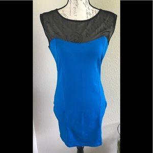 "New Forever 21 Blue ""Hug Me dress"" (L)"